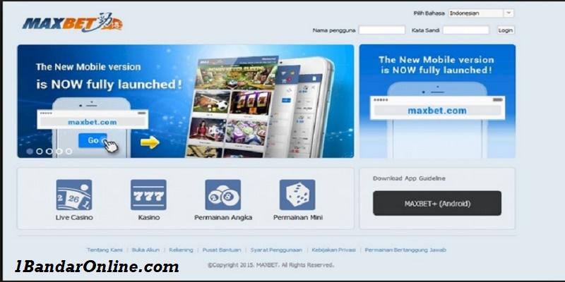 Situs Agen Judi Online Maxbet Terpercaya